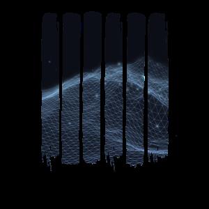 Grunge abstrakte 3D Landschaft T-Shirt