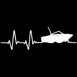 Boot Bootfahren Herzfrequenz Motorboot Geschenk