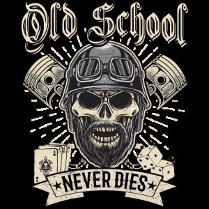 Old School Biker Chopper Motorradfahrer