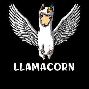 Llamacorn Lama Unocorn Magisches Alpaka