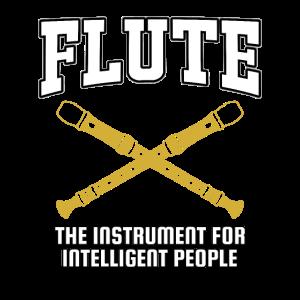 Flöte Lustig Musik Instrument Flötistin Geschenk