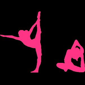 4 Frauen bei Yoga Übung