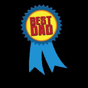 Best dad ribbon - Auszeichnung Bester Dad & Vater
