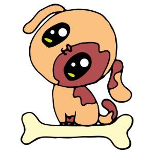 Kawaii le chien mignon