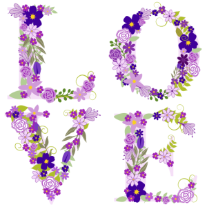 Love Liebe Blumen Blüten Lila Violett Geschenk