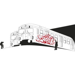 Throw up graffiti trains - 2wear Classics