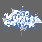 √ Dae 2Wear graffiti style ver01 blue edt.