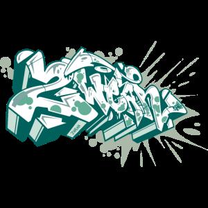 √ 2 Tragen Sie einen Graffiti-Stil