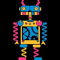 Roboter mit Zahnräder