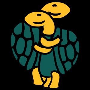 Süßes Niedliches Schildkröten Paar