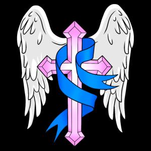 Engelsflügel mit Kreuz himmlisch Gott Jesus Kirche