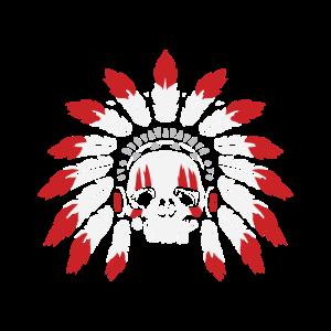 Totenschädel eines Indianerhäuptling