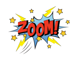 Zoom Comic Cartoon Comicstyle Retro Sprechblase