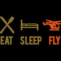 Essen Schlafen Fliegen Eat Sleep Fly