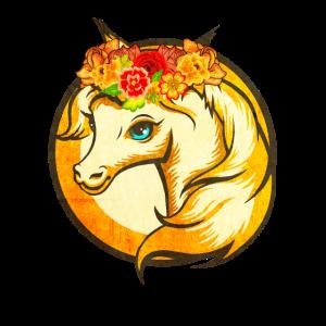 Unicorn Einhorn Blume Regenbogen Fabelwesen