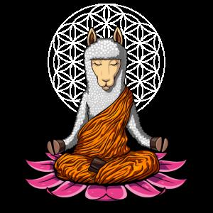 Lama Yoga Zen Alpaca Meditation Buddha Tier