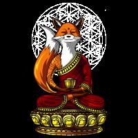 Fuchs Yoga Zen Meditation Buddha Tier