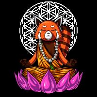 Roter Panda Bear Zen Yoga Meditation Buddha Animal