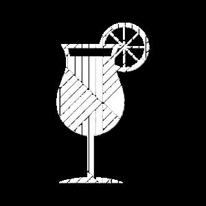 Cocktail geometrisch Geschenk Hipster Sommer Sun