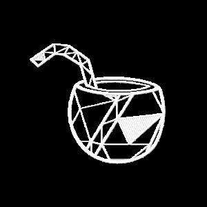 Cocktail geometrisch Geschenk Hipster Sommer Fun