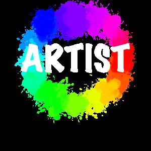 Künstler Farbrad Farbpalette