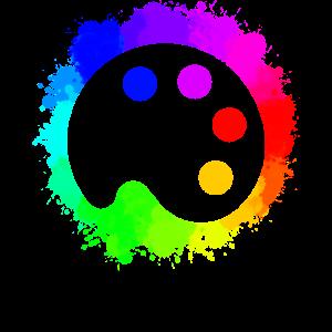 Kunst Farbpalette Farbrad