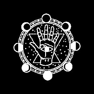 Mond Wahrsagen Inneres Auge Magie Symbol Geschenk