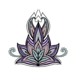 Abstraktes dekoratives Blumenmuster, Mandala