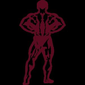 Bodybuilder posiert stehend 15 6