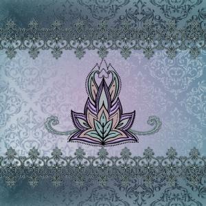 Abstraktes dekoratives Blumenmuster, Mandala.