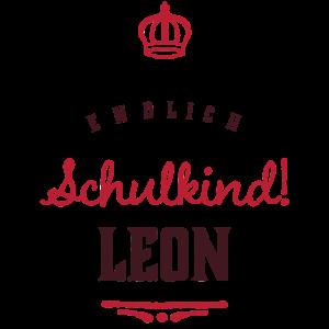 Endlich Schulkind Leon Name Einschulung Geschenk