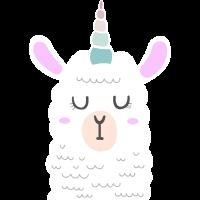 Llama Llamacorn Unicorn Alpaca Lama Alpaka