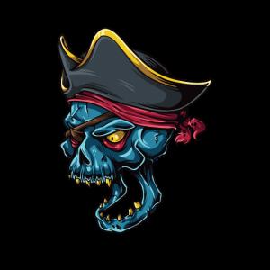 Piratenkopf Kapitän Totenkopf Pirat