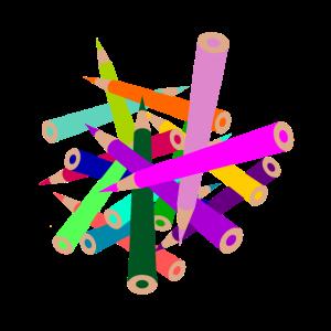 Buntstifte Chaos, viele Buntstifte, durcheinander