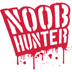 Shooter Noob Hunter Blut Tropfen Graffiti