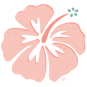 Aloha Hibiskus in coral