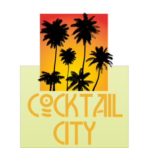 cocktail city design palms beach sonnenuntergang