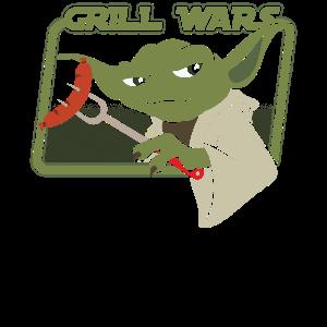 Grill Wars Grillen BBQ Steak Wurst Yoda Geschenk