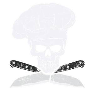 Grillen Chefkoch Koch Totenkopf Messer Geschenk