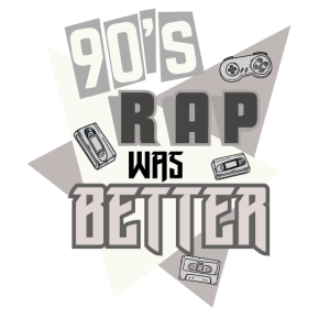 90er Jahre Rap Musik Grafik Retro Hip Hop Rapper Design
