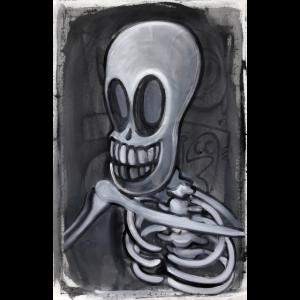 Skelett, das lacht
