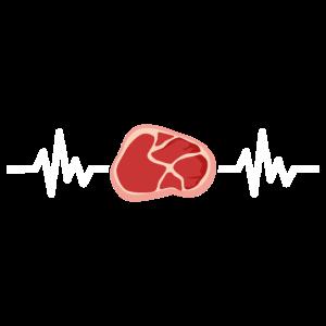 Fleisch Pulse Herzschlag Grillen Geschenk