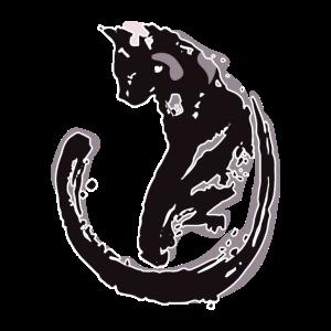 Katze Umriss Schatten Rauch Haustier Geschenk