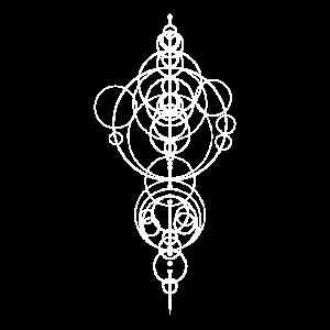 Symbol Kreise Planeten Kurious Geometrie Geschenk
