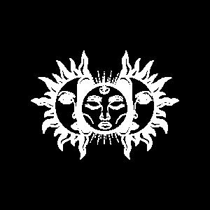 Sonne Mond Aufbrechen Gesichter Gleich Geschenk