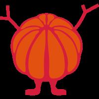 Orange fröhlich 1