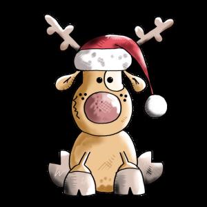 Lustiges Rentier - Weihnachten