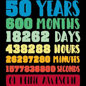 50th Birthday Gift Vintage T Shirt