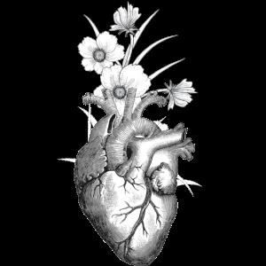 FLOWER MY ANATOMIC HEART TUMBLR SHIRT