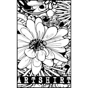 bloem motief artshirt